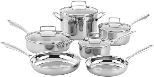 cuisinart stainless steel set