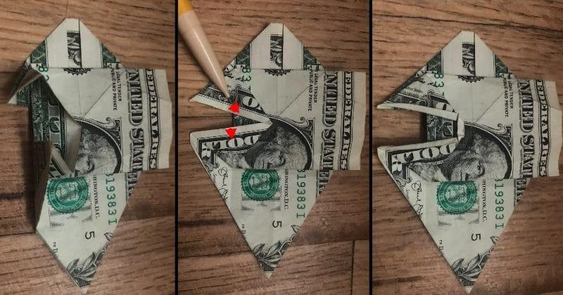 Dollar Bill Origami Dog 15
