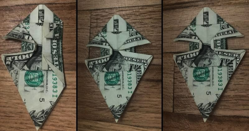 Dollar Bill Origami Dog 16