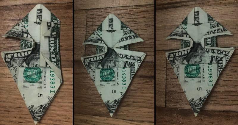 Dollar Bill Origami Dog 16