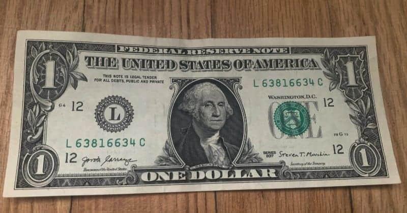 Dollar Bill Origami Cross 1