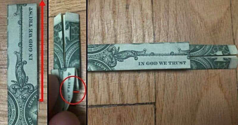 Dollar Bill Origami Cross 6