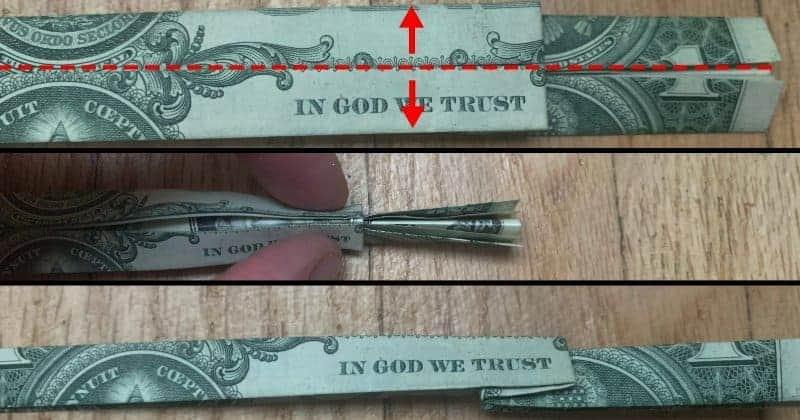 Dollar Bill Origami Cross 7