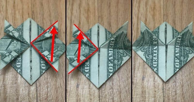 ollar Bill Origami Frog Step 10