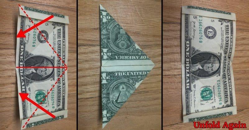 Dollar Bill Origami Frog Step 4