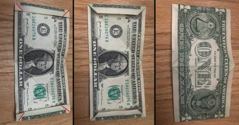 Dollar Bill Origami Frog Step 5