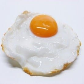 well cooked egg