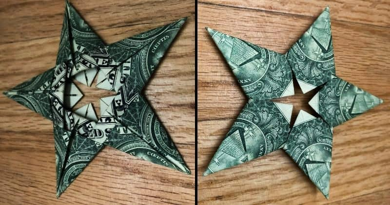 5 Pointed Dollar Bill Origami Star
