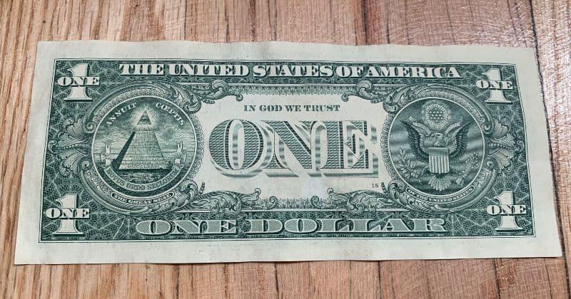 Dollar Bill Backside