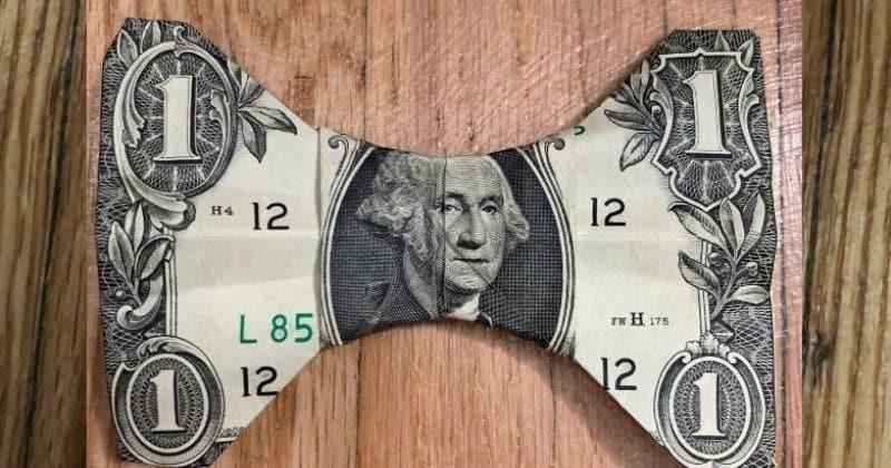 Dollar Bill Money Origami Bow Tie