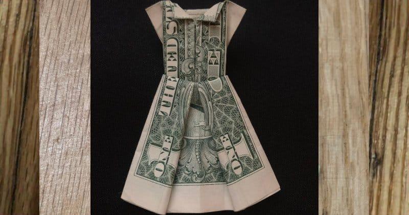 Dollar Bill Money Origami Dress
