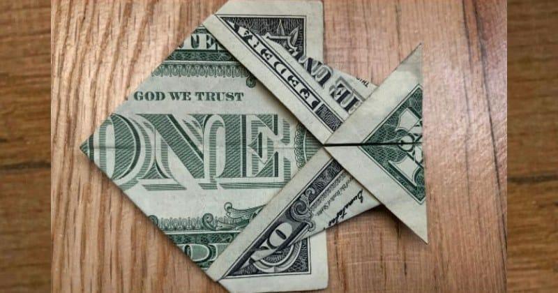 Dollar Bill Money Origami Fish