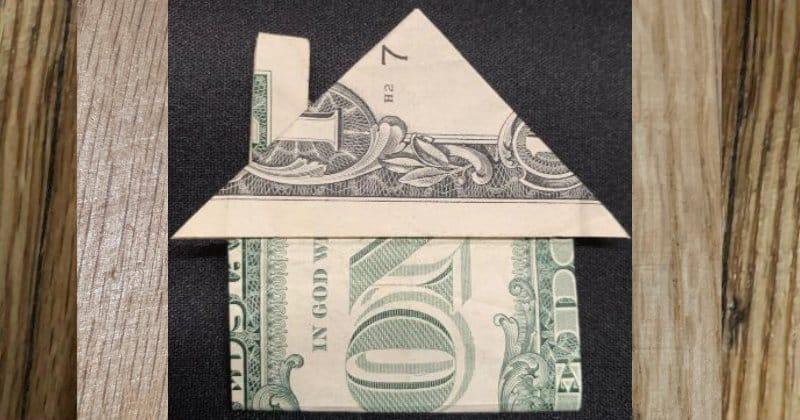 Dollar Bill Money Origami House