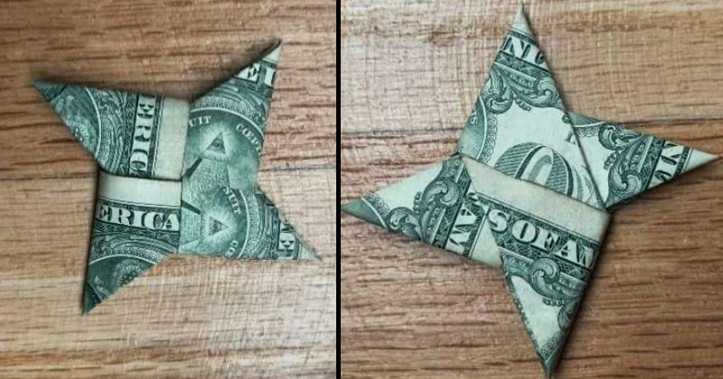 Dollar Bill Money Origami Ninja Star
