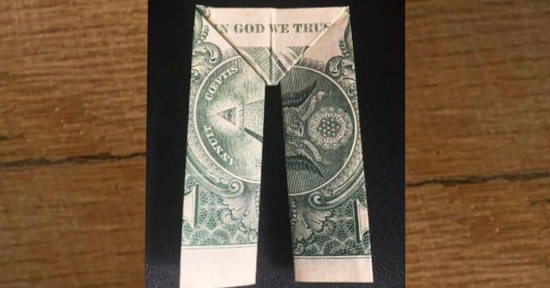 Dollar Bill Money Origami Pants
