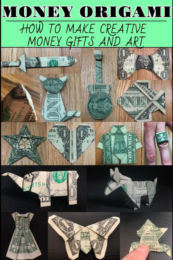 Dollar Bill Money Origami Pin