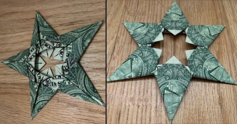 Dollar Bill Money Origami Star
