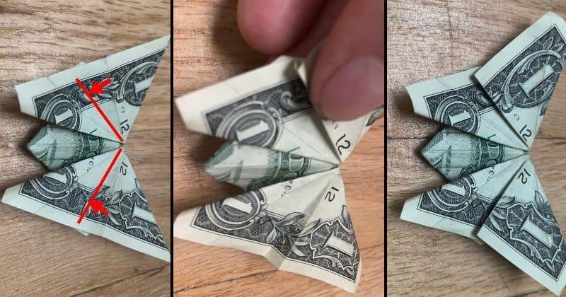 Dollar Bill Origami Butterfly 11
