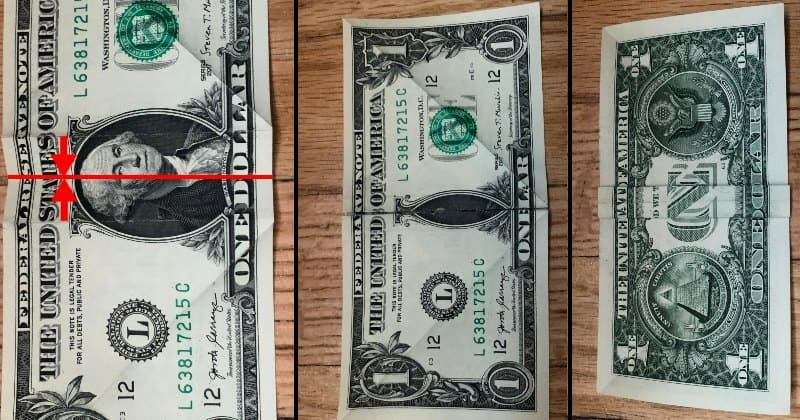 Dollar Bill Origami Butterfly 5