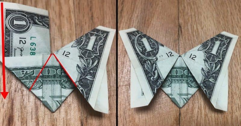 Dollar Bill Origami Butterfly 9