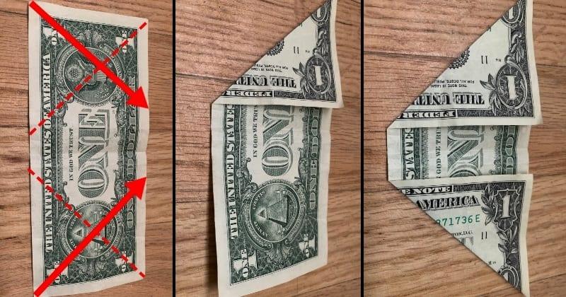 Dollar Bill Origami Sailboat 2