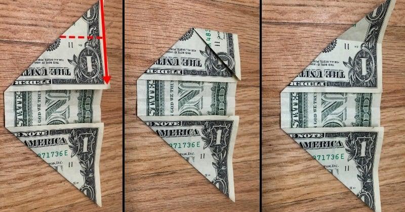 Dollar Bill Origami Sailboat 3