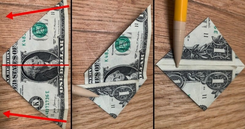 Dollar Bill Origami Sailboat 4