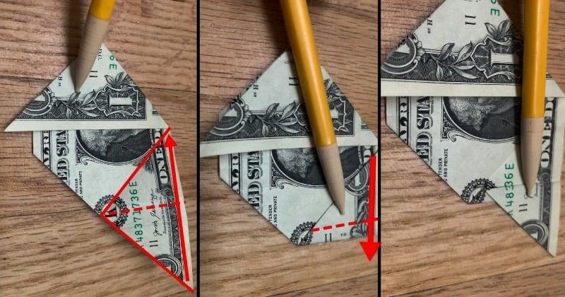 Dollar Bill Origami Sailboat 5