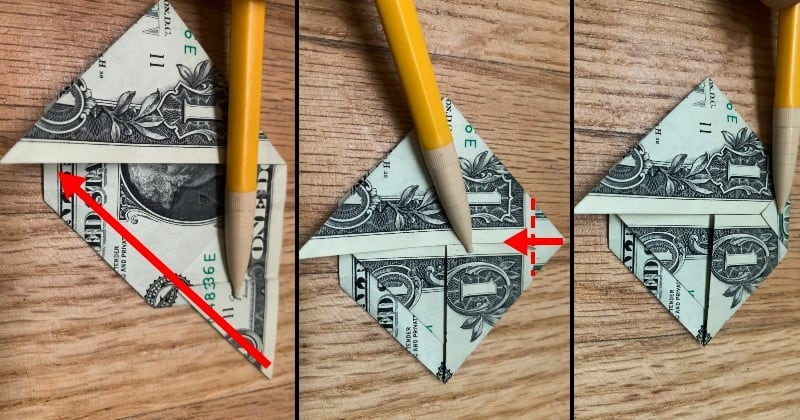 Dollar Bill Origami Sailboat 6