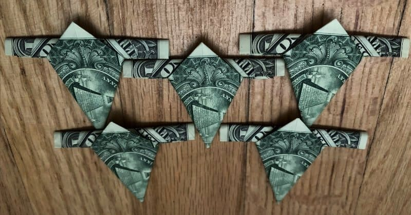 Dollar Bill Origami Star 8