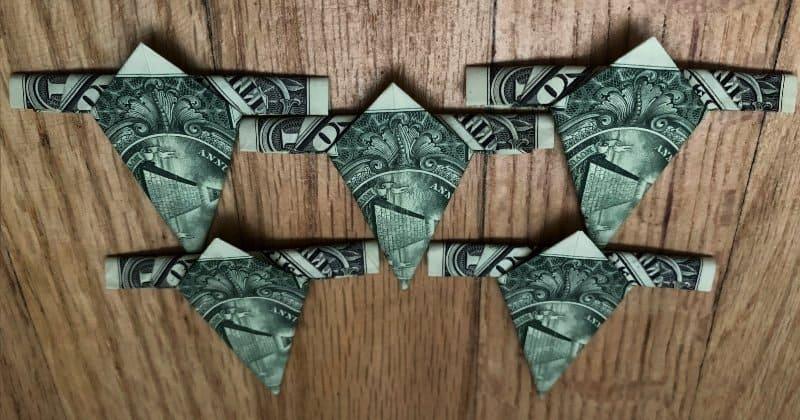 Dollar Bill Origami Star 8
