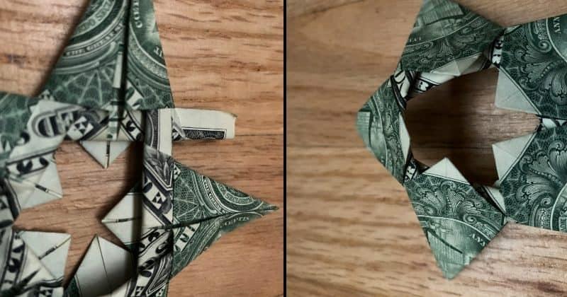 Dollar Bill Origami Star 9d