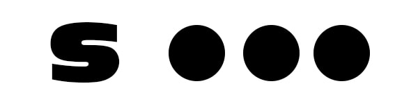 S in Morse code is three dots.