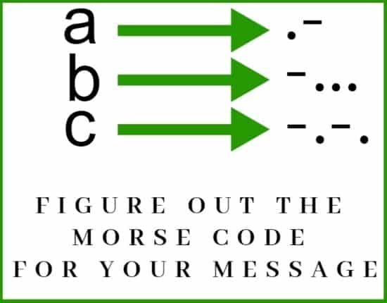 morse code writing rule1