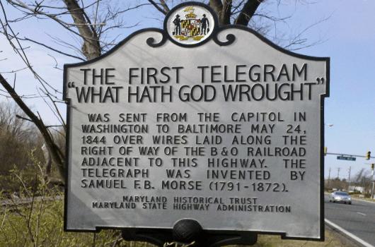 the first telegram