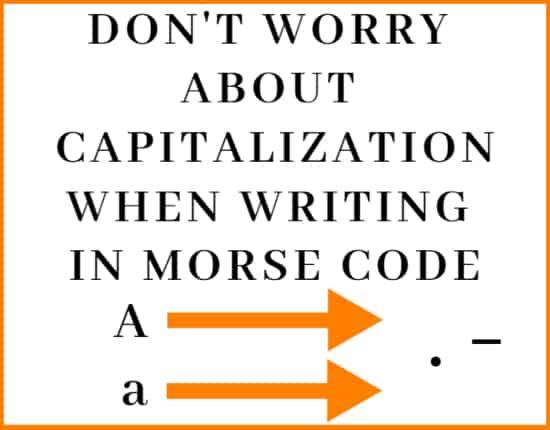 writing in morse code rule5