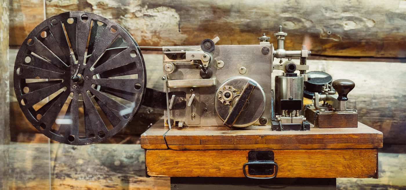 vintage commercial electrical telegraph