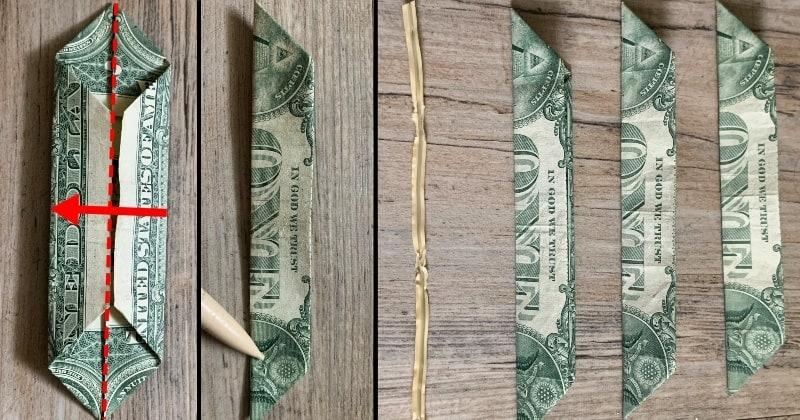 dollar bill origami flower 6