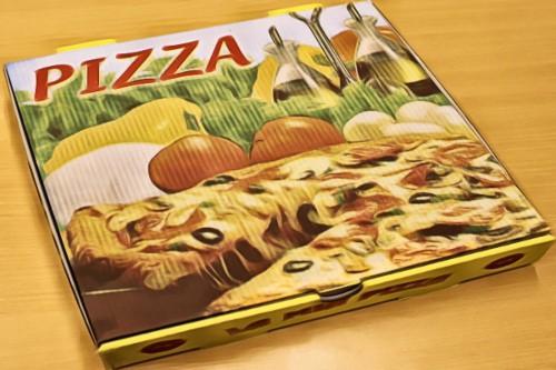 a pizza box