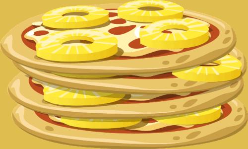 hawaiian pizzas