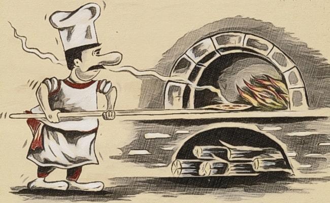 italian making pizza