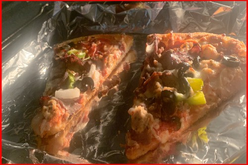 reheat pizza in oven