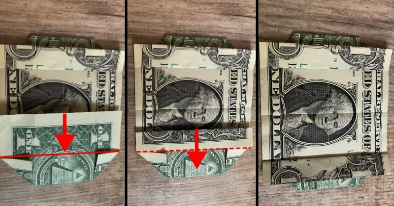 dollar bill origami box 7