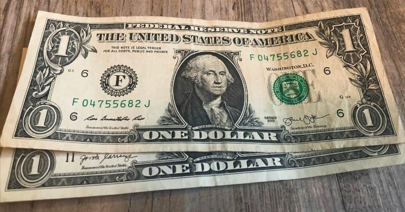 dollar bill origami box start