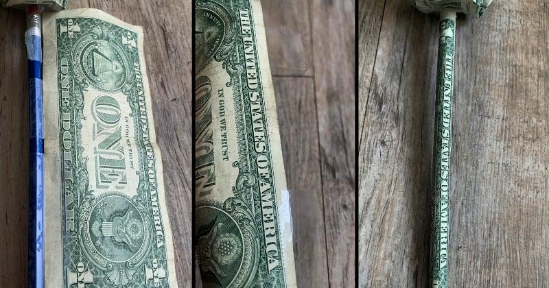 dollar bill origami rose 12