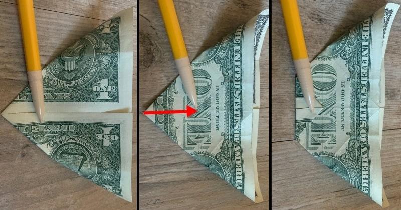 dollar bill origami rose 5