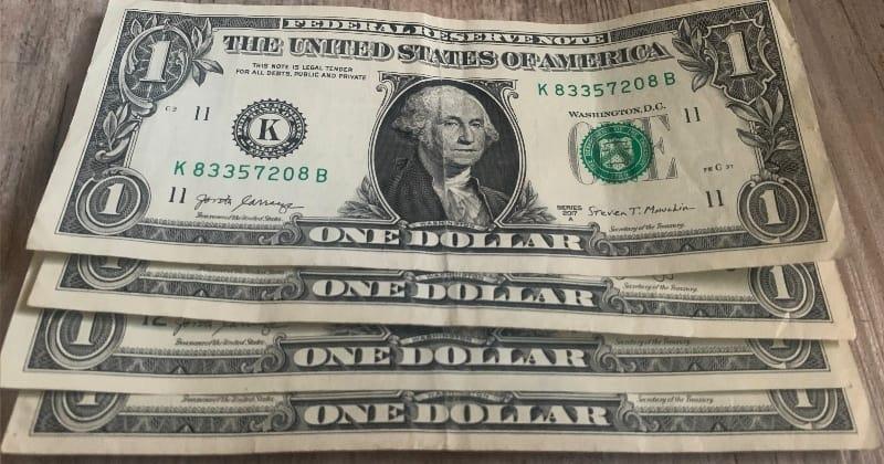 dollar bill origami rose start