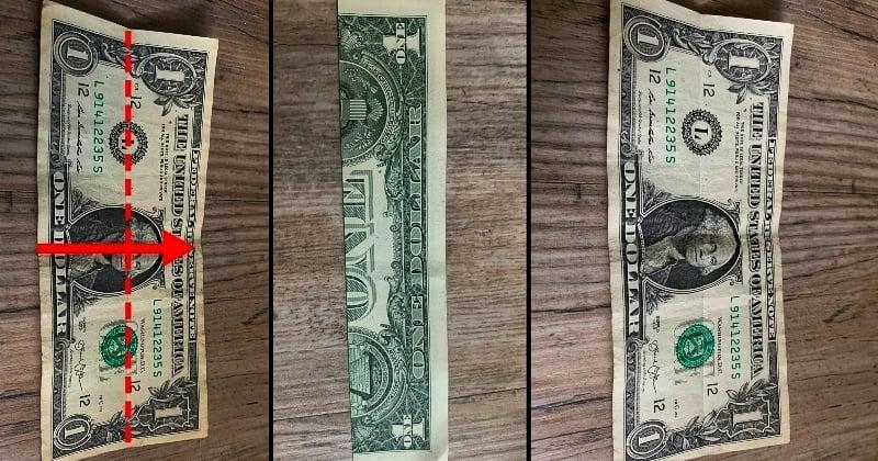 dollar bill origami shirt 1