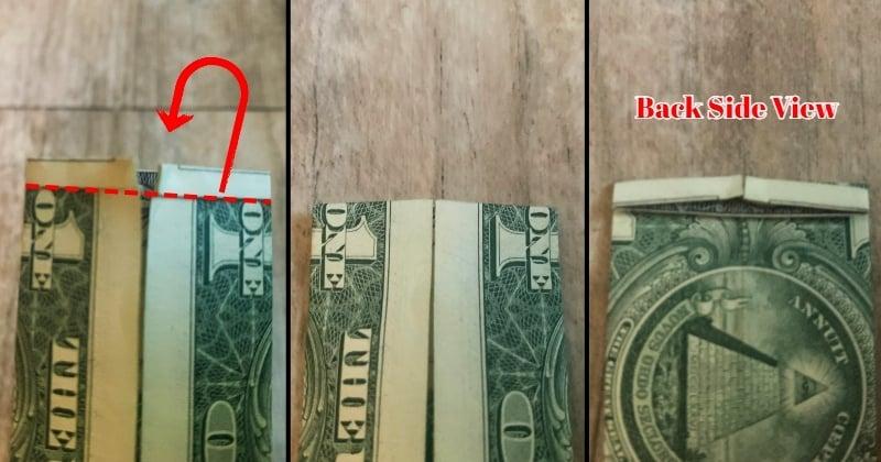 dollar bill origami shirt 6