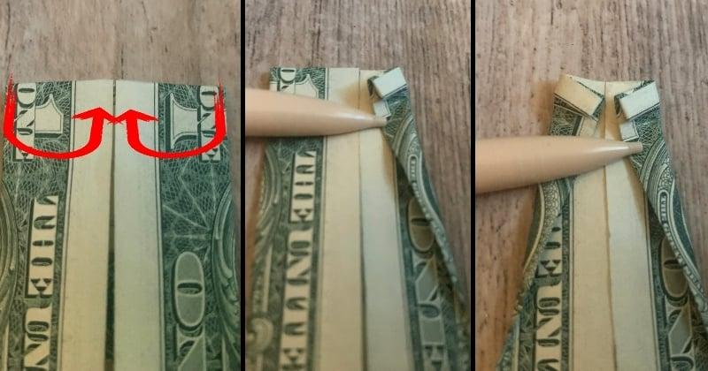dollar bill origami shirt 7